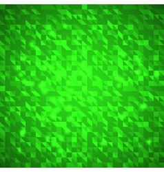Abstract green bright triangles background vector image