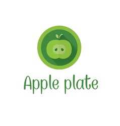 Half apple icon vector
