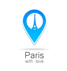 Paris with love vector image