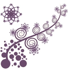 Artistic purple tree vector