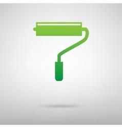 Roller symbol Green icon vector image