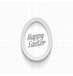 Happy easter realistic paper egg greeting banner vector