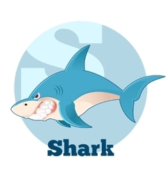 Abc cartoon shark vector