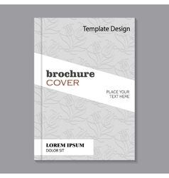 Floral brochure cover design vector