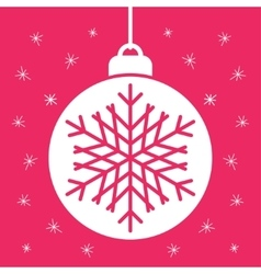Abstract christmas ball in flat style vector image vector image