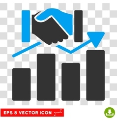 Acquisition graph eps icon vector
