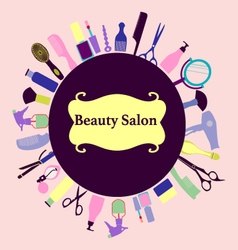 Background for hair and beauty salon barber shop vector