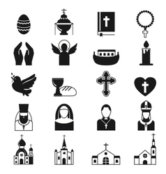 black religion icon set vector image vector image