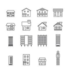 building iconline vector image vector image