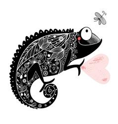 Chameleon patterned vector