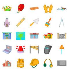 Elite development icons set cartoon style vector