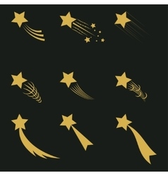 Falling gold stars vector image