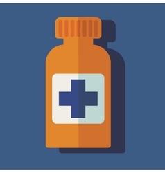 flat medical bottle pills vector image