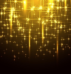 Golden Background with Stars vector image vector image