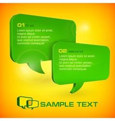 Green speech bubbles vector image