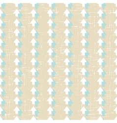 Grunge arrow seamless pattern vector image