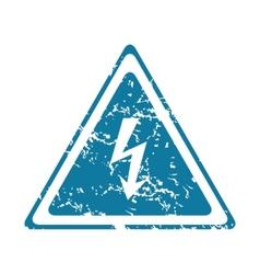 Grunge high voltage icon vector