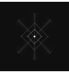 Infinite rhombic in circles vector