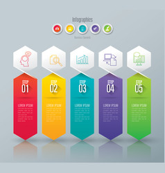 infographics design with 5 step vector image vector image