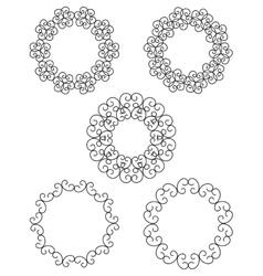 Logo template set Guilloche decorative elements vector image
