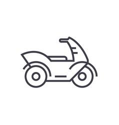 motorcyclemotorbike line icon sign vector image vector image
