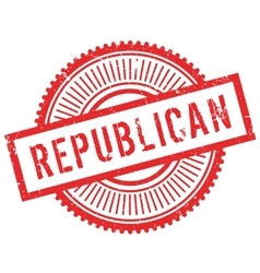 Republican stamp rubber grunge vector