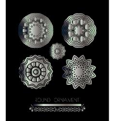Royal circle design elements vector