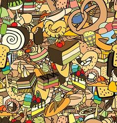 Seamless pattern of ice-cream vector image