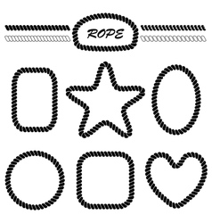 Set of monochrome brushes and frames vector