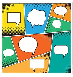 Speech Bubble in Pop-Art Style vector image