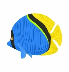 Surgeon fish icon cartoon style vector image
