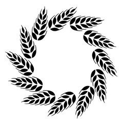 Wheat in the circle vector