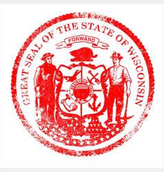 Wisconsin seal stamp vector