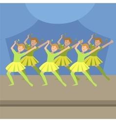 Kids synchronized modern dance performance vector