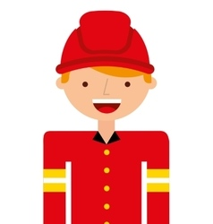 Fire fighter character isolated icon vector