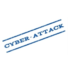 Cyber-attack watermark stamp vector