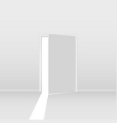 Abstract open door on white background for vector