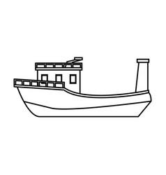 boat tourist vector image