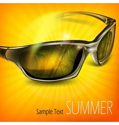 Sunglasses with reflection on vector