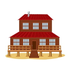 Big wooden house vector