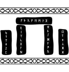 runic stones vector image