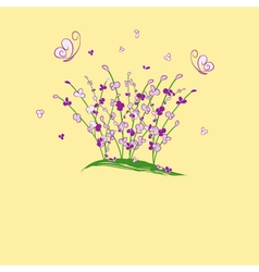 Summertime flower vector