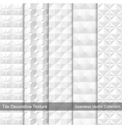 Tile decorative texture seamless patterns vector