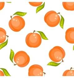 Orange peach fruit seamless pattern vector