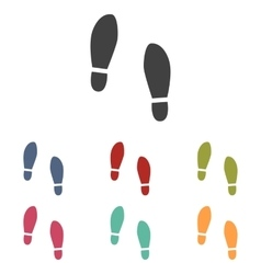 Imprint soles shoes icons set vector