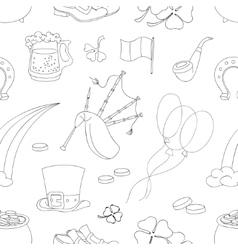 Saint Patricks Day pattern vector image
