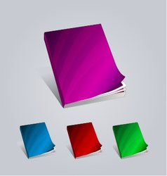 Colorful creative books presentation magazine vector