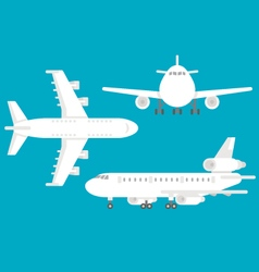 Flat design airplane set vector
