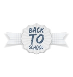 Back to School Banner with white Ribbon vector image