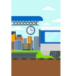 Background of train leaving the station vector image